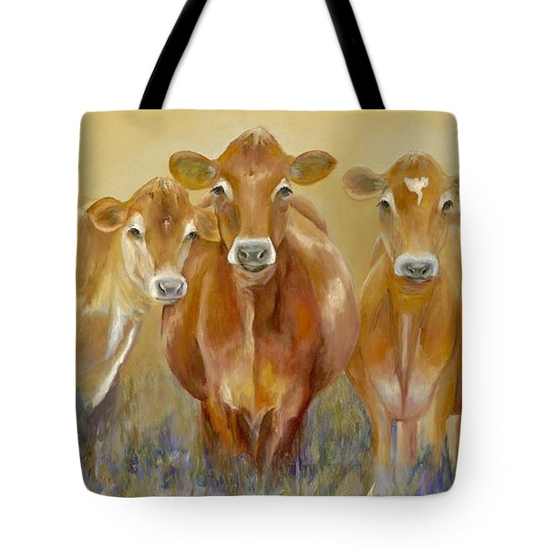 The Morning Moo Tote Bag by Catherine Davis