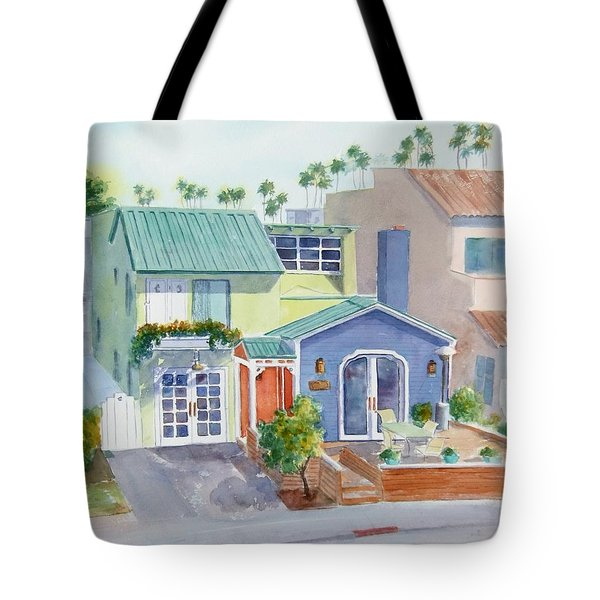 The Most Colorful Home In Belmont Shore Tote Bag