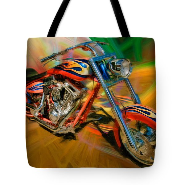 The Motorcyclerow Tote Bag by Blake Richards