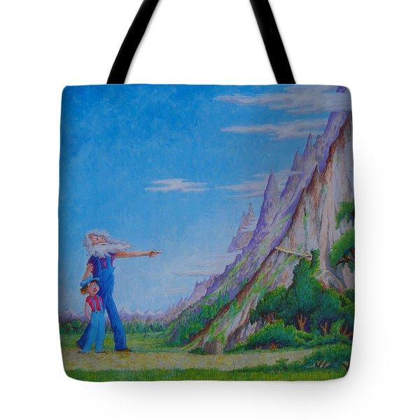 The Mountain Tote Bag by Matt Konar