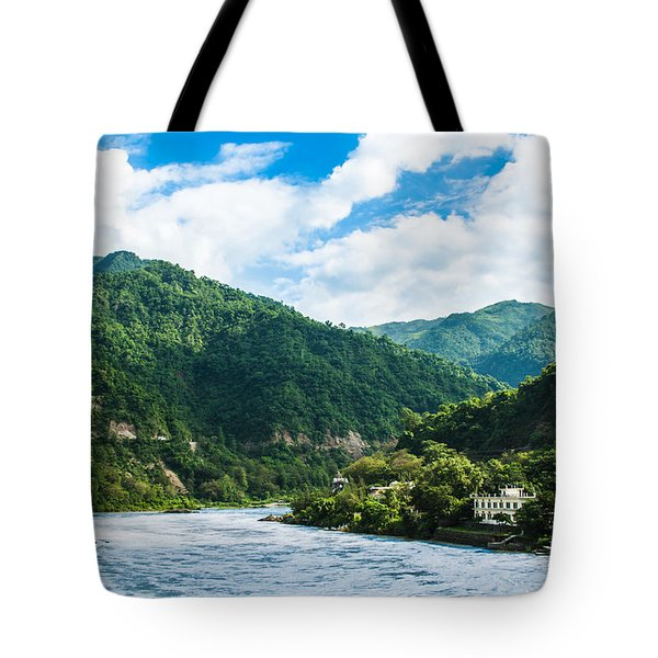 The Mountain Valley Of Rishikesh Tote Bag