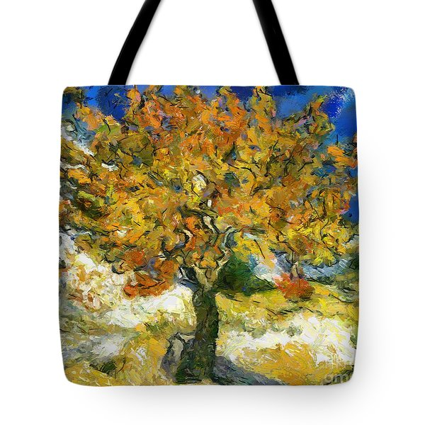 The Mulberry Tree After Van Gogh Tote Bag