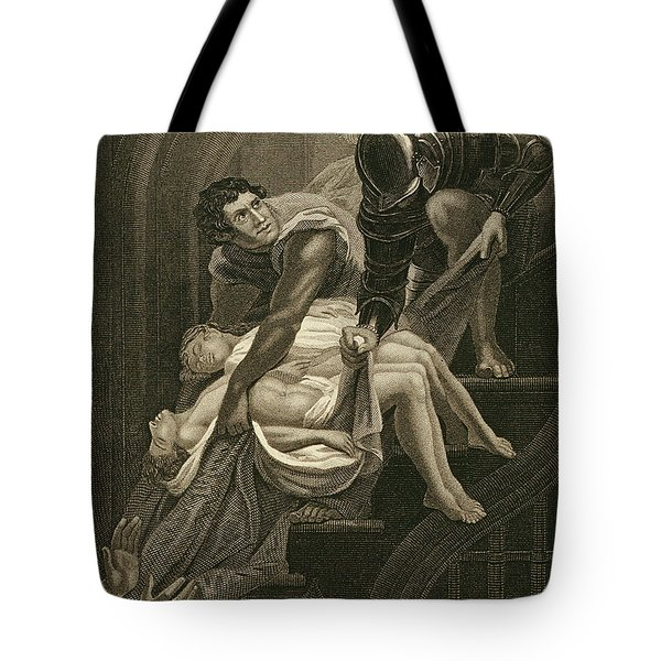The Murder Of The Two Princes Tote Bag by James Northcote