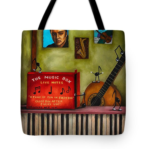 The Music Box Edit 3 Tote Bag by Leah Saulnier The Painting Maniac