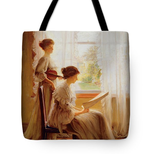 The Music Lesson, C.1890 Tote Bag by American School