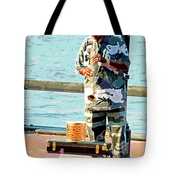 The Music Man Tote Bag by Suzanne Gaff