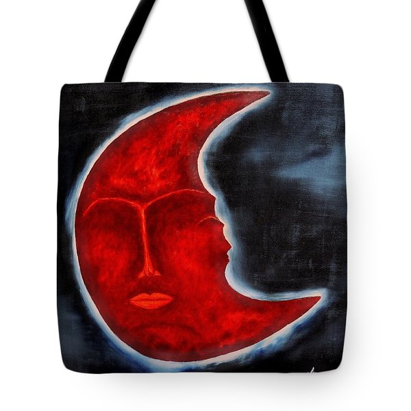 The Mysterious Moon - Original Oil Painting Tote Bag