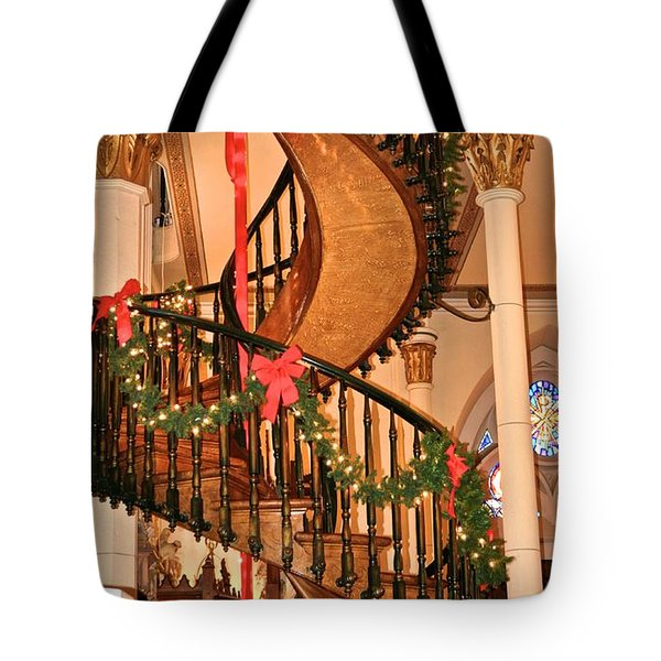 The Mysterious Miracle Staircase Tote Bag