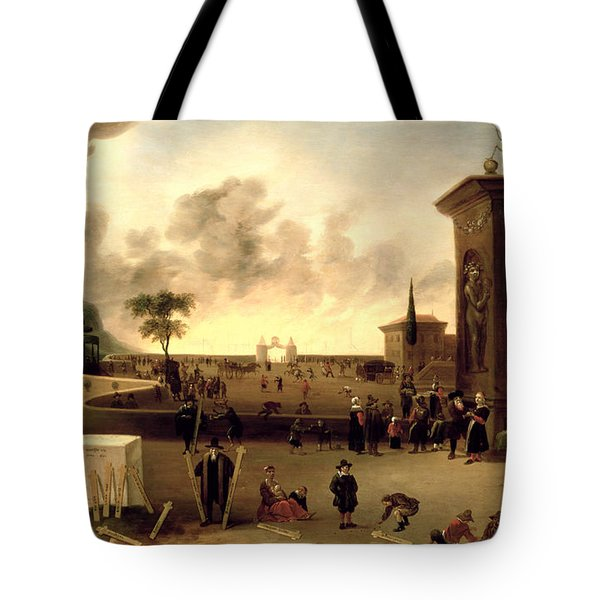 The Narrow Gate To Heaven And The Wide Gate To Hell Oil On Panel Tote Bag