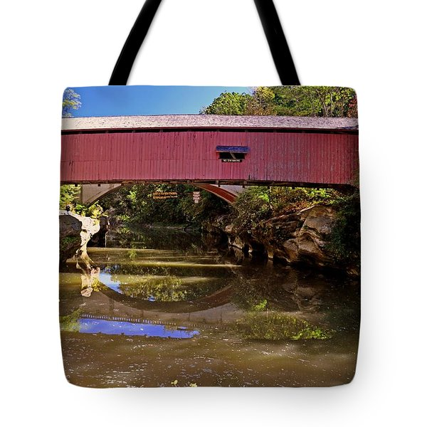 The Narrows Covered Bridge 1 Tote Bag by Marty Koch