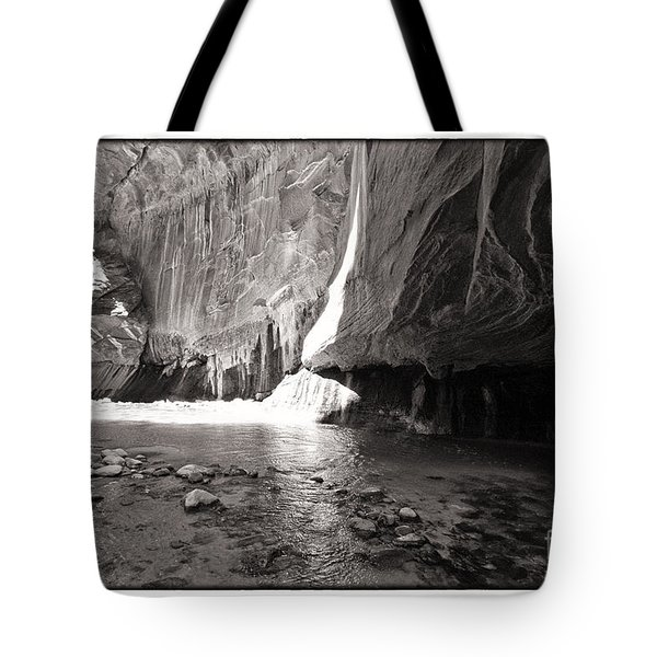 Tote Bag featuring the photograph The Narrows Iv by Angelique Olin