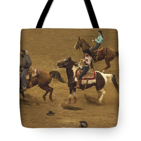 The National Western Stock Show Barrel Races Tote Bag