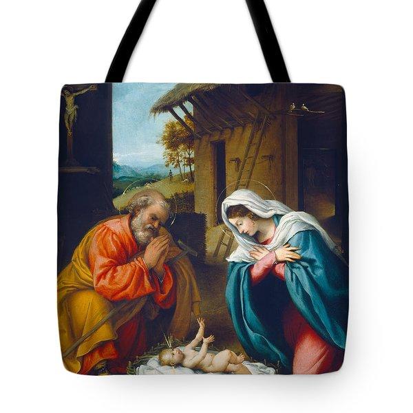 The Nativity 1523 Tote Bag