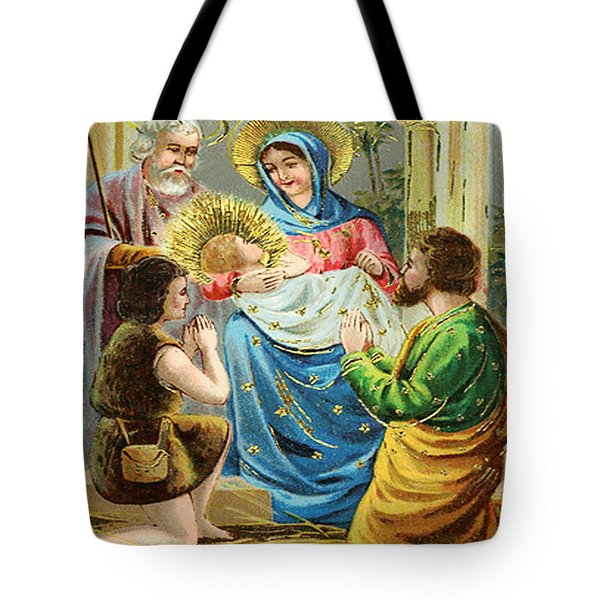 The Nativity Tote Bag by Bill Cannon