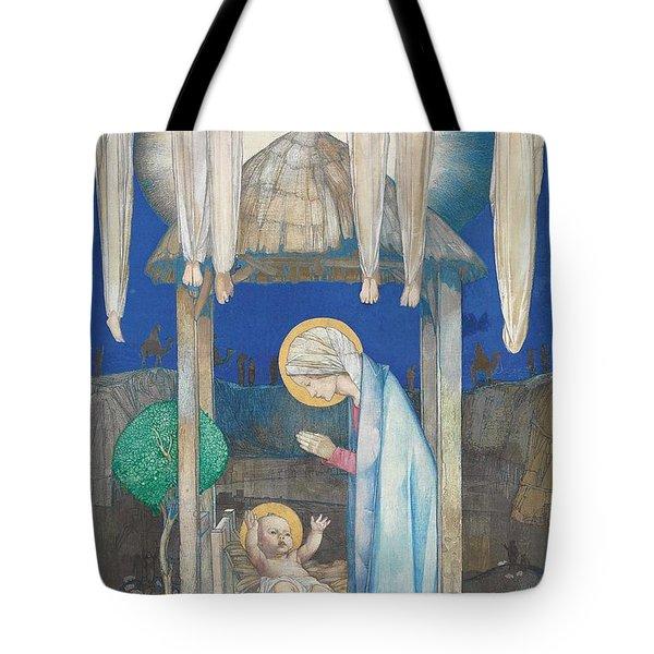 The Nativity Tote Bag by Edward Reginald Frampton