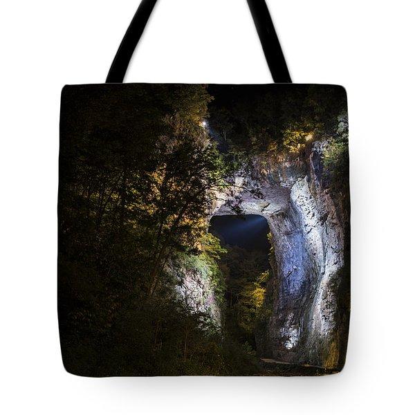 The Natural Bridge At Night  Tote Bag