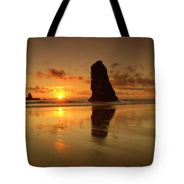 The Needles At Haystack - Cannon Beach Sunset  Tote Bag by Brian Harig