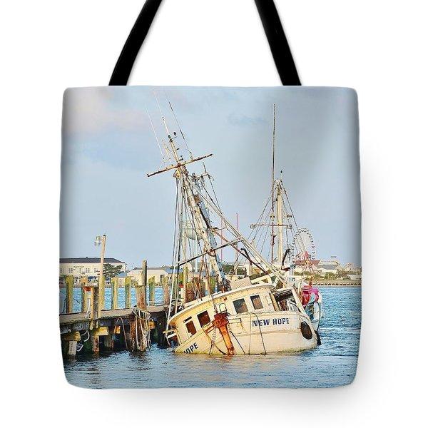 The New Hope Sunken Ship - Ocean City Maryland Tote Bag
