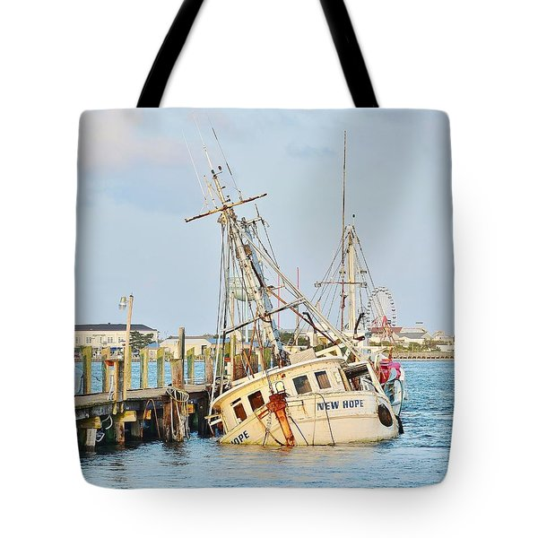 The New Hope Sunken Ship - Ocean City Maryland Tote Bag