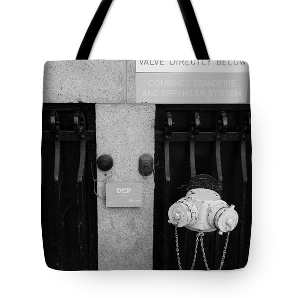 The New Normal In Black And White Tote Bag by Rob Hans