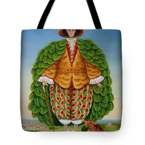 The New Vestments Ivor Cutler As Character In Edward Lear Poem, 1994 Oils And Tempera On Panel Tote Bag by Frances Broomfield