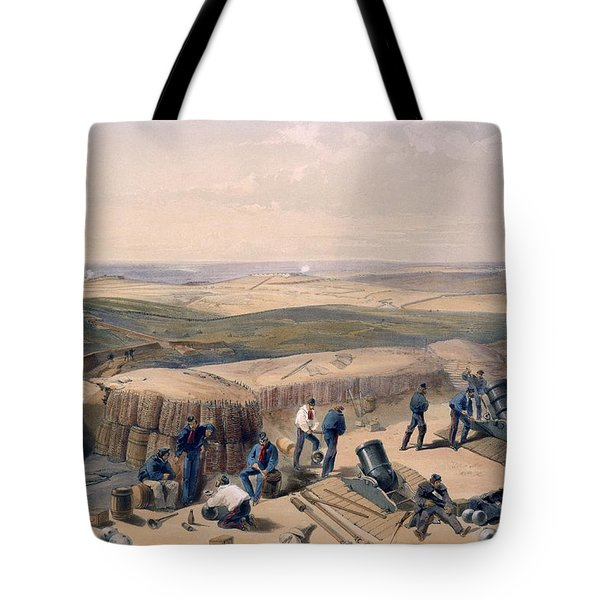 The New Works On The Right Attack Tote Bag by William 'Crimea' Simpson