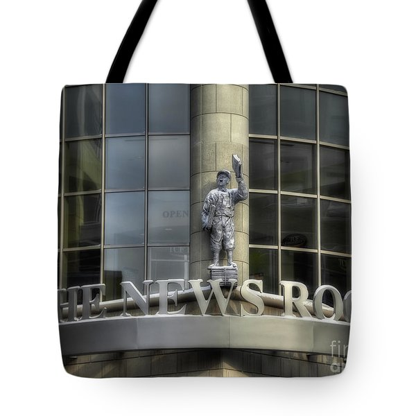 Tote Bag featuring the photograph The News Room by Trey Foerster