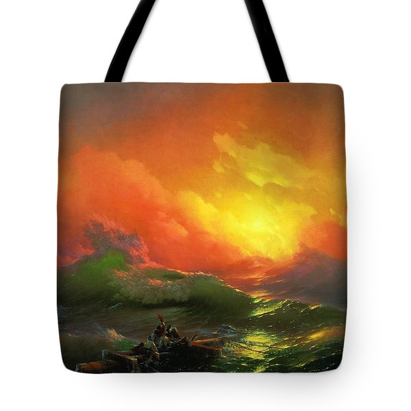 The Ninth Wave 1850 By Aivazovsky Tote Bag by Movie Poster Prints