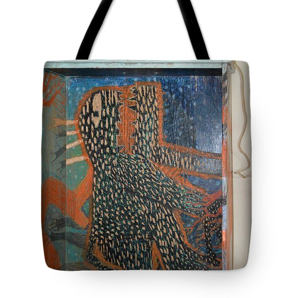 The Non-erring Line Is A Papercut - Drawer Tote Bag by Nancy Mauerman
