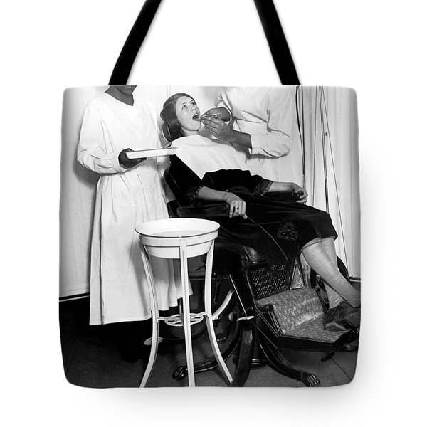 The North Harlem Dental Clinic Tote Bag by Underwood Archives