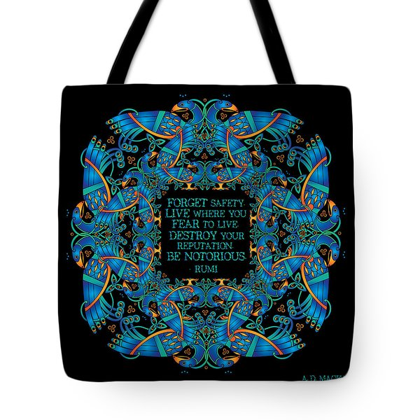 The Notorious Celtic Peacocks Tote Bag