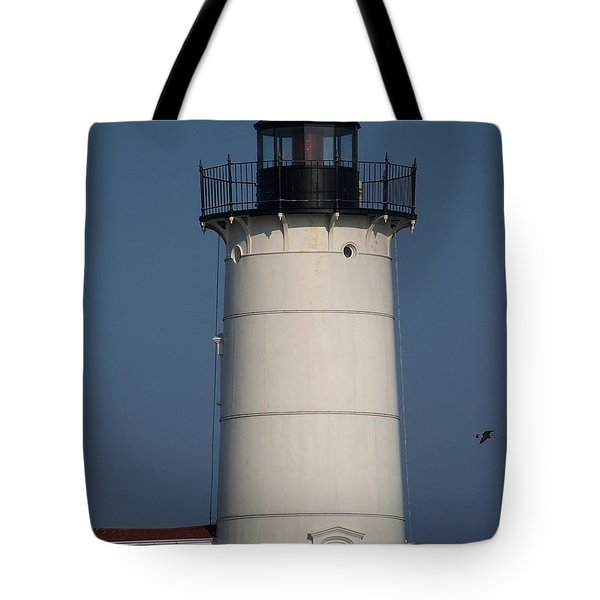 Tote Bag featuring the photograph Lighthouse by Eunice Miller