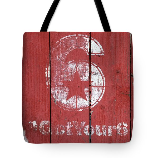 The Number 6 Tote Bag by Art Block Collections