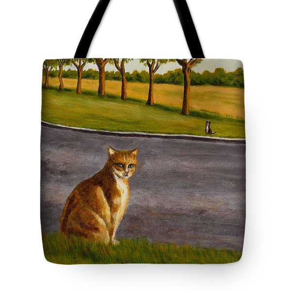 The Obscure Communication Between Cats Tote Bag by Jingfen Hwu