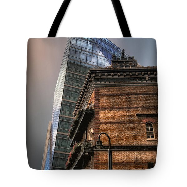 Tote Bag featuring the photograph The Old And The New by Jim Hill