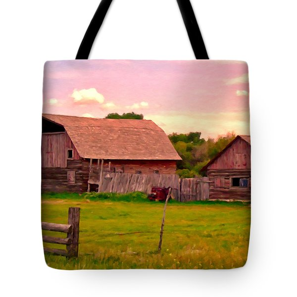 The Old Barn Tote Bag by Michael Pickett