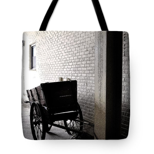 Tote Bag featuring the photograph The Old Cart From The Series View Of An Old Railroad by Verana Stark