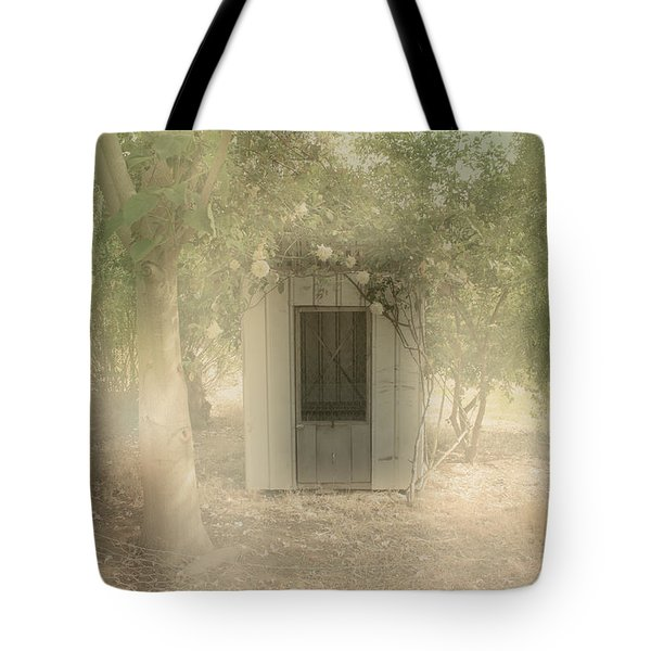 Tote Bag featuring the photograph The Old Chook Shed by Elaine Teague