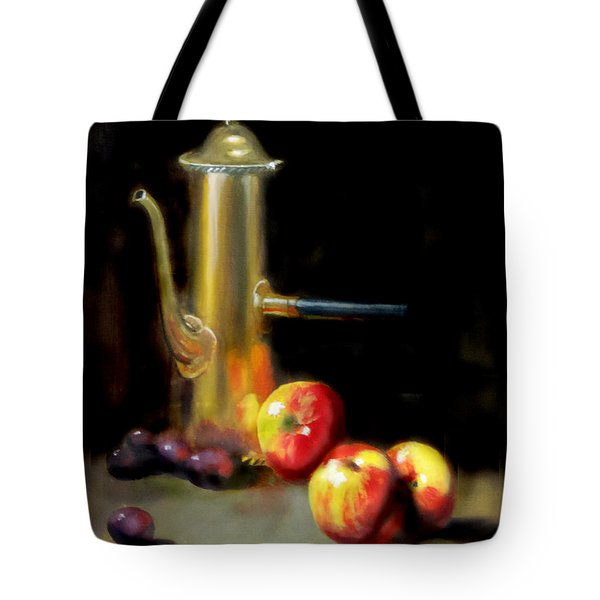 Tote Bag featuring the painting The Old Coffee Pot by Barry Williamson