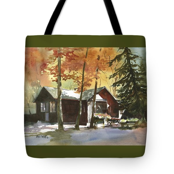 The Old Cottage Tote Bag by Kris Parins