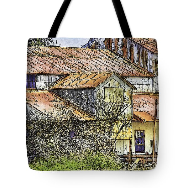 The Old Cotton Barn Tote Bag by Barry Jones