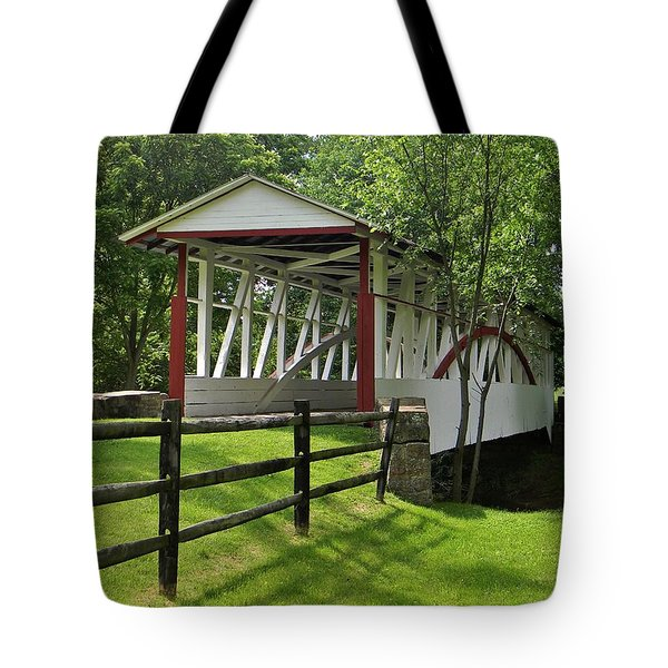 The Old Covered Bridge Tote Bag by Jean Goodwin Brooks
