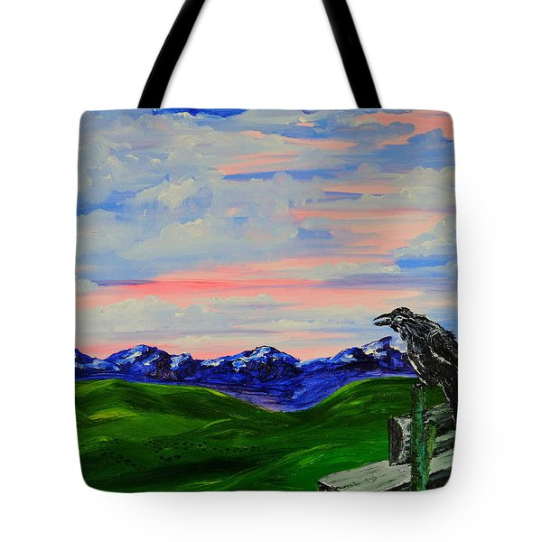 The Old Crow - Speaking Words Of Wisdom Tote Bag