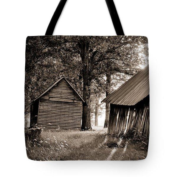 The Old Farm At Sunrise Tote Bag