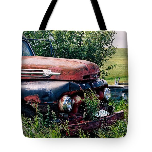 The Old Farm Truck Tote Bag