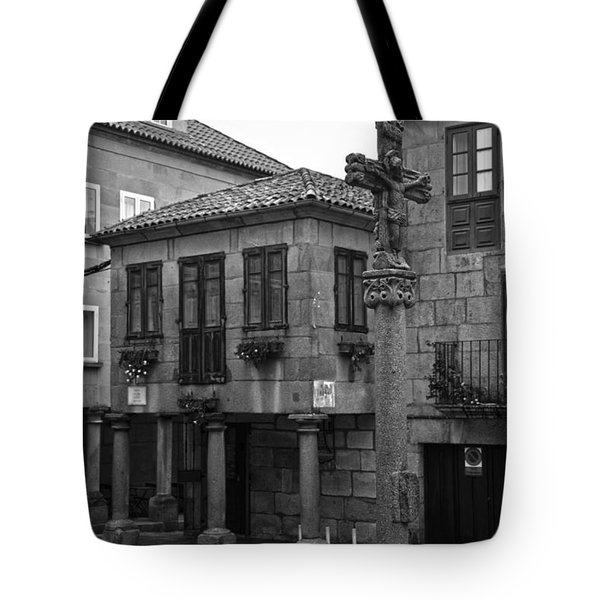 The Old Firewood Marketplace Bw Tote Bag