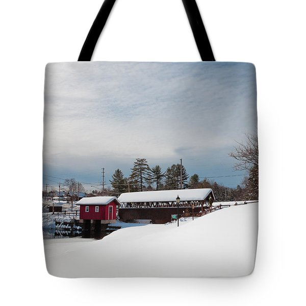 The Old Forge Covered Bridge Tote Bag