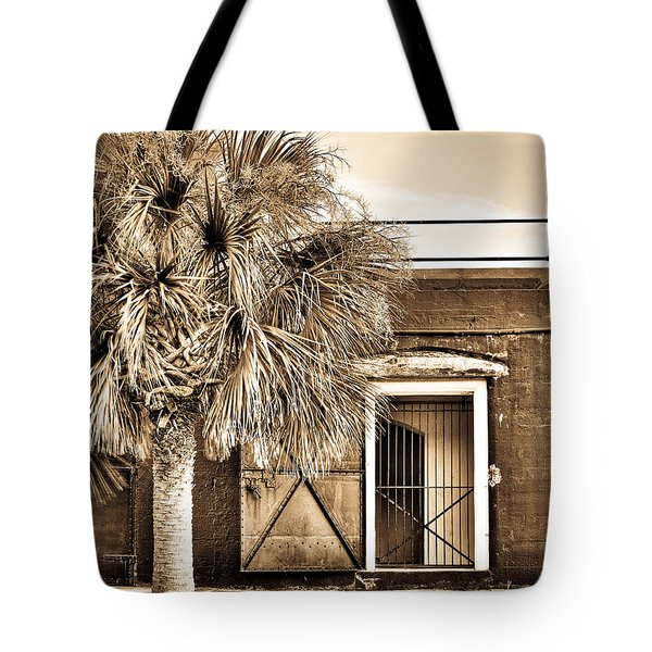 The Old Fort-sepia Tote Bag