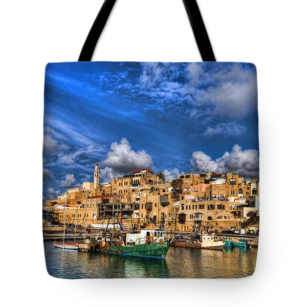 the old Jaffa port Tote Bag