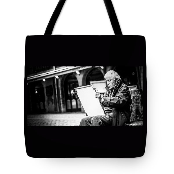 Tote Bag featuring the photograph The Old Man Painter II by Stwayne Keubrick